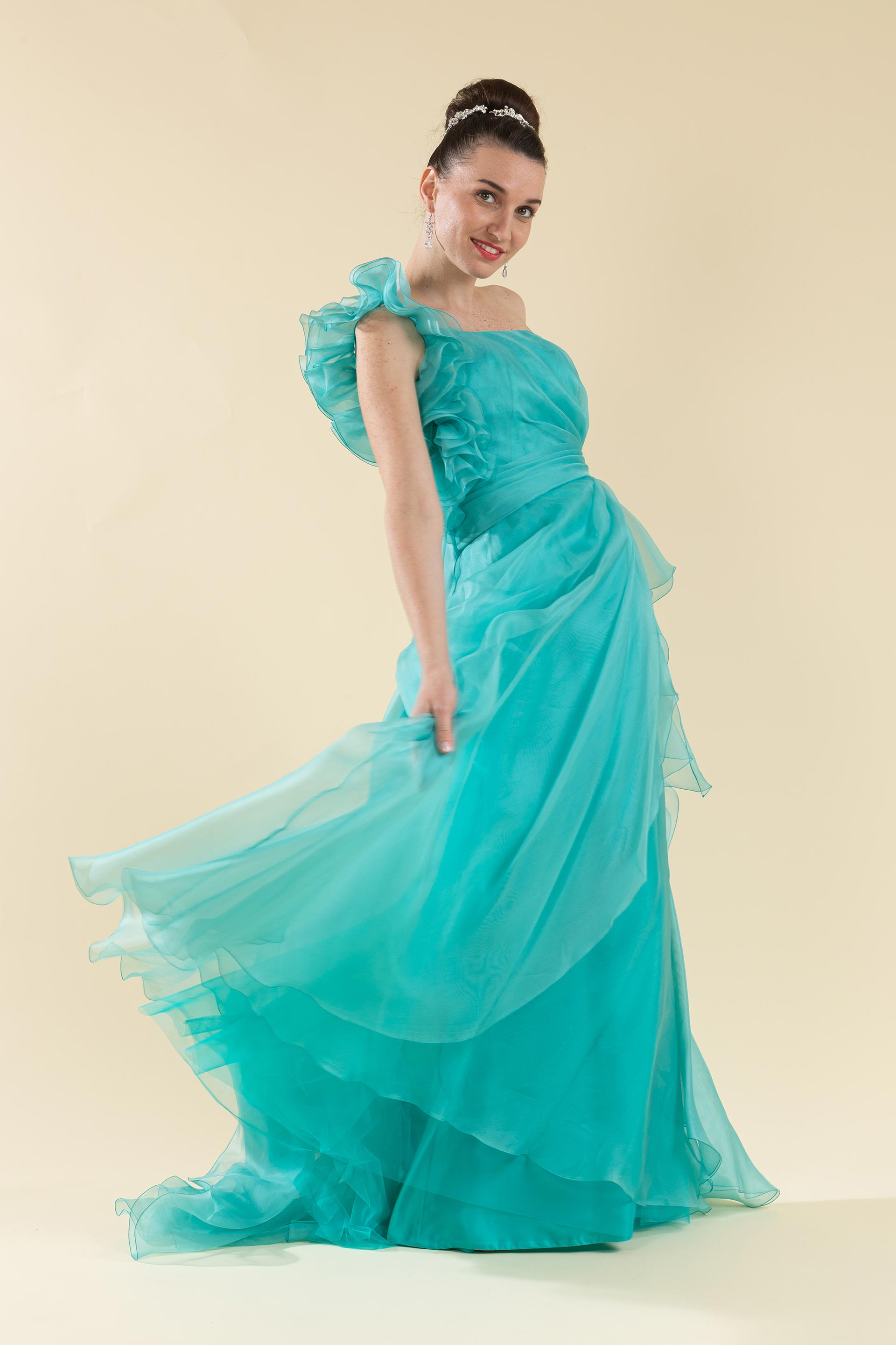 Abito sposa color Tiffany