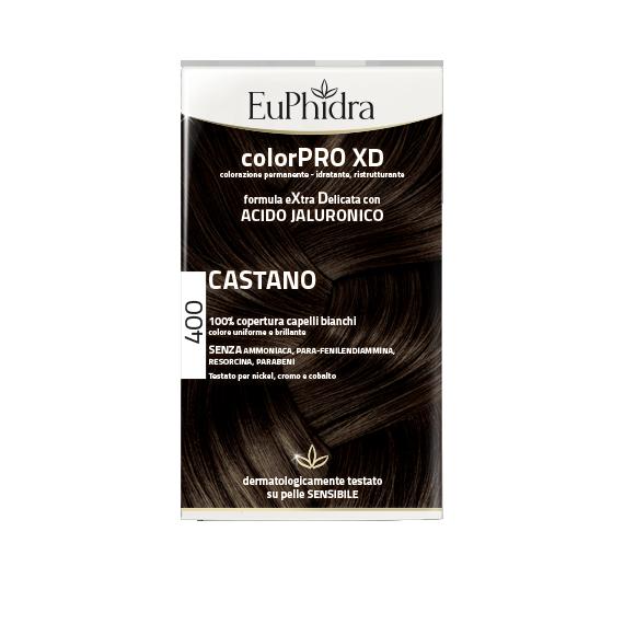 TINTA 4.0 CASTANO EXTRA DELICATA CON ACIDO IALURONICO 100% COPERTURA CAPELLI BIANCHI. SENZA AMMONIACA, PARA-FENILENDIAMMINA, RESORCINA, PARABENI. TESTATO PER NICHEL, CROMO E COBALTO. COLORAZIONE PERMANENTE, IDRATANTE, RISTRUTTURANTE. DERMATOLOGICAMENTE TESTATO SU PELLE SENSIBILE. EUPHIDRA.