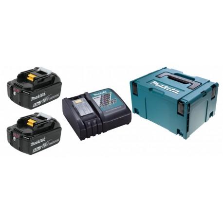 198116-4 MAKITA KIT ENERGY 2x 18V 6Ah + caricabatterie rapido