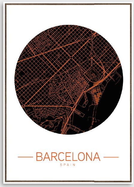 Tela Barcelona map