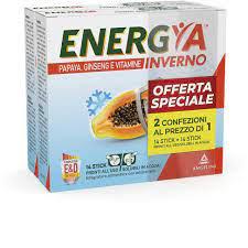 Energya Inverno Bipack 14+14 bustine Papaya Ginseng e Vitamine