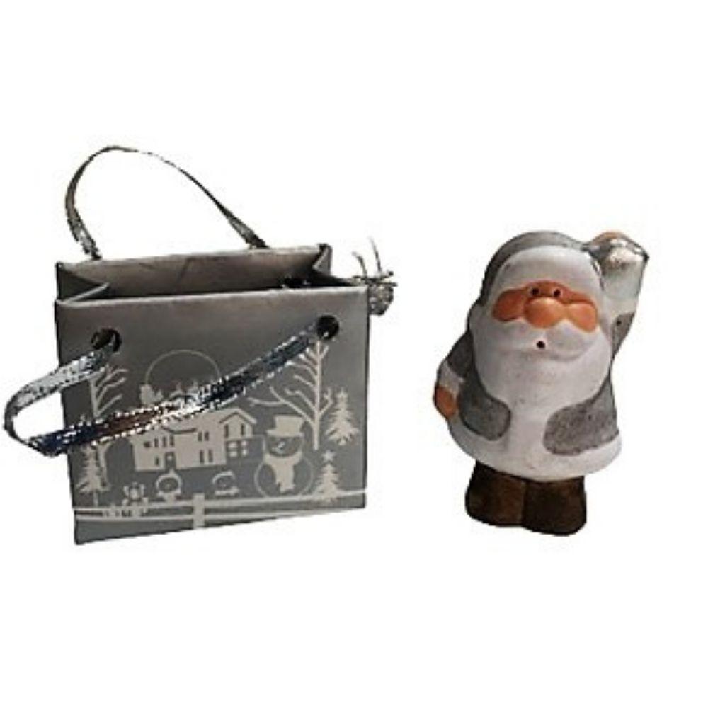 Babbo Natale in miniatura con sacchetto segnaposto