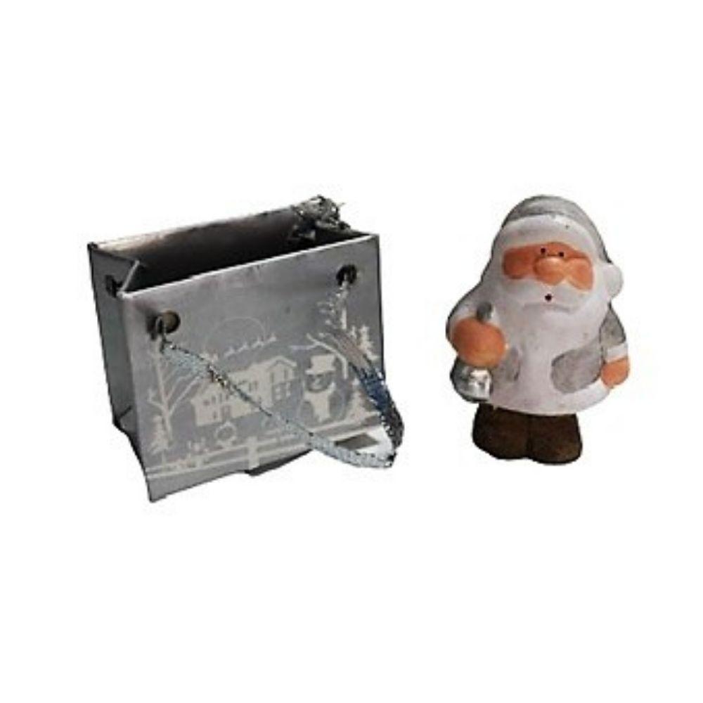 Babbo Natale segnaposto in miniatura con sacchetto