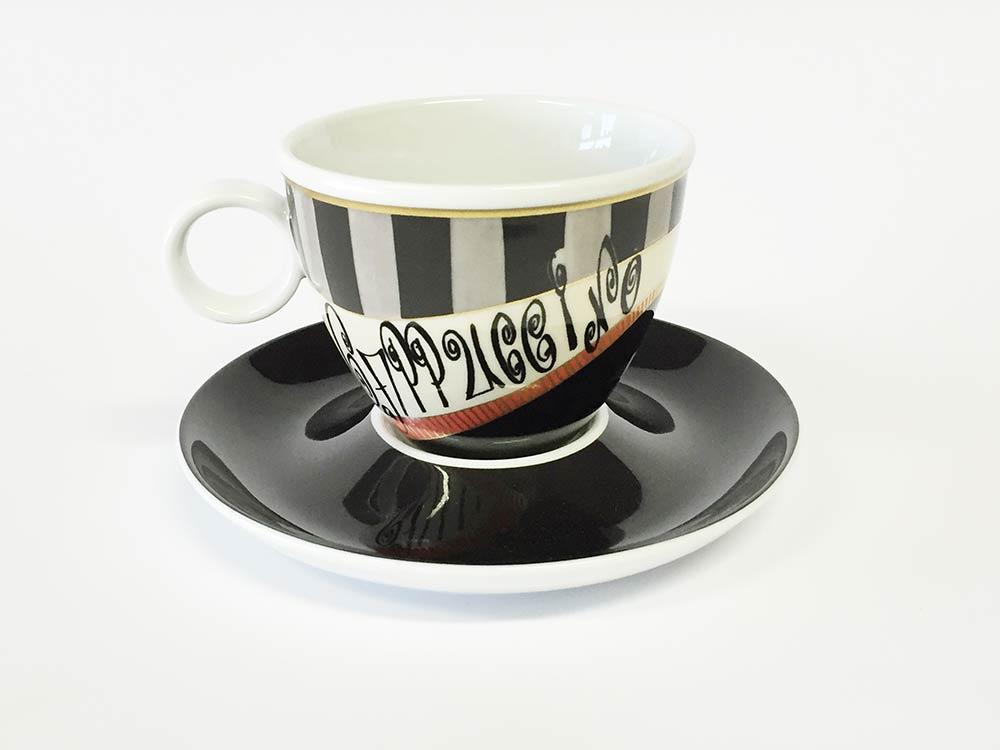 Tassen Unterteller cappuccino Groovy Girl (6stck)