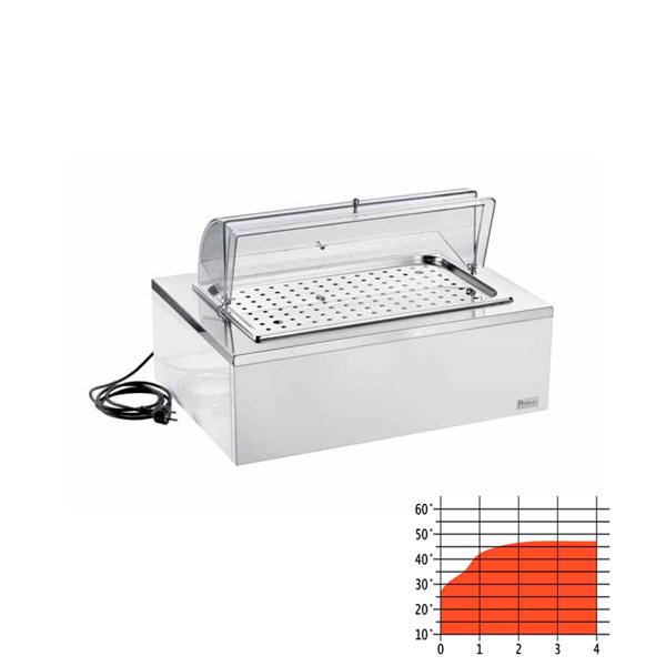 Rechteckiges warmhalte-tablett für brioches ausgestattet (1stck)
