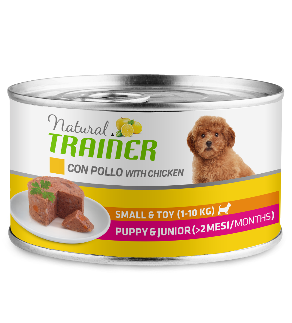 Trainer Natural - Small&Toy - Puppy&Junior - Pollo - 150g x 6 lattine