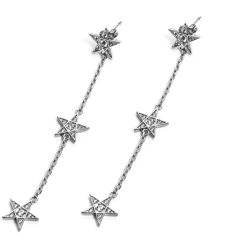 Orecchini donna For Us Cesare Paciotti Jewels. Pendenti stelle.
