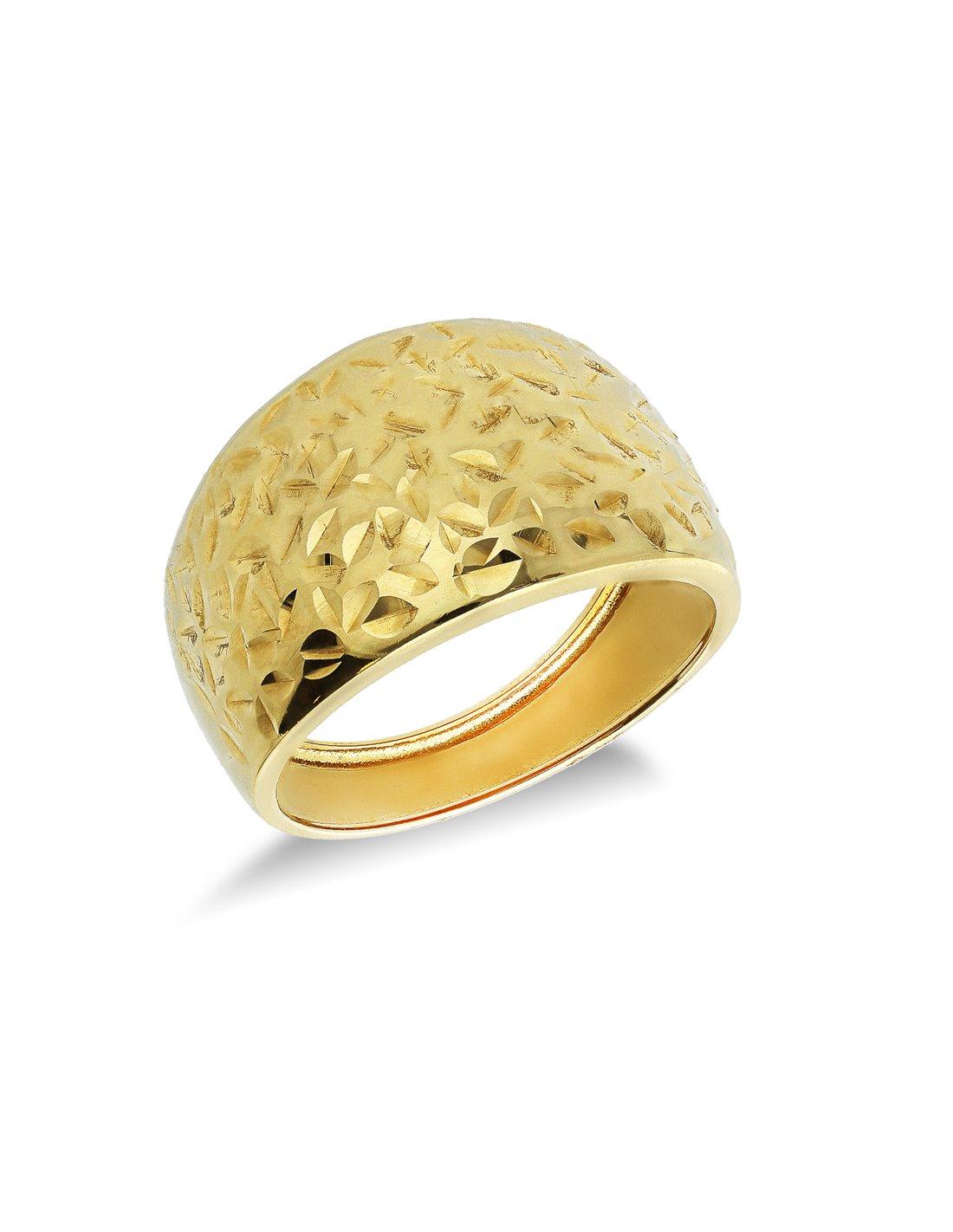Anello Oro Diamantata