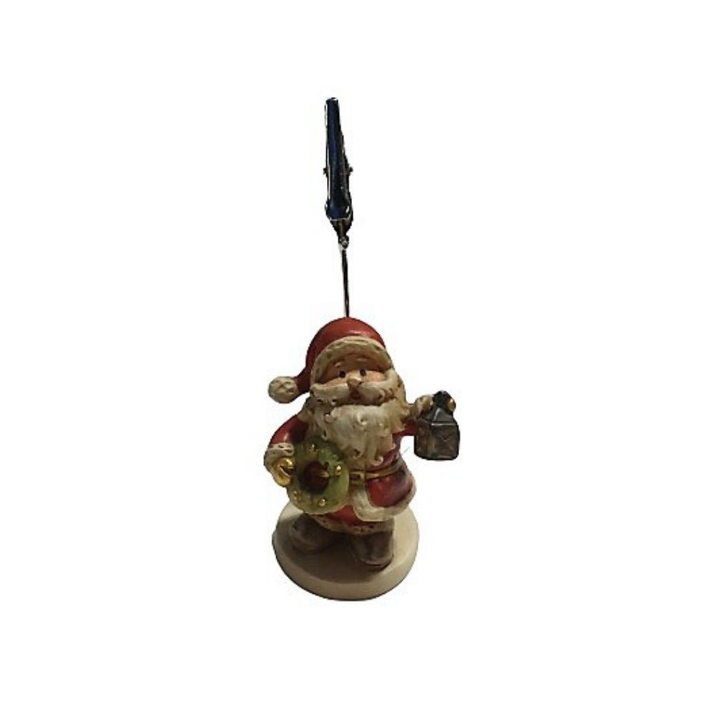 Clip porta foto Babbo Natale segnaposto