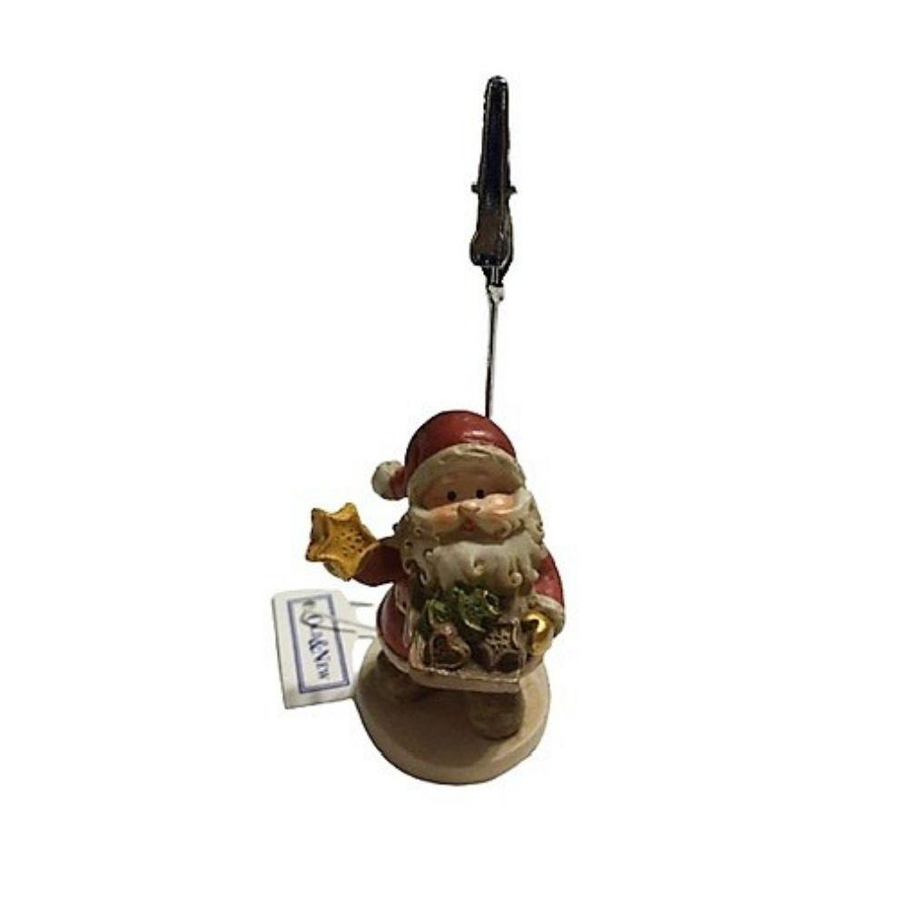 Clip porta foto segnaposto Babbo Natale