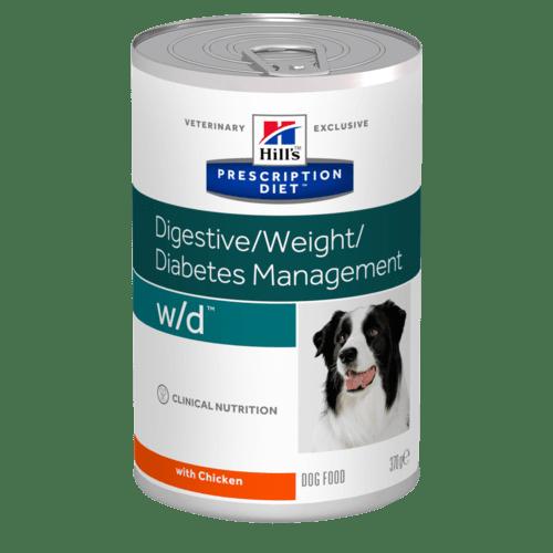 Hill's - Prescription Diet Canine - w/d - 370g x 24 lattine
