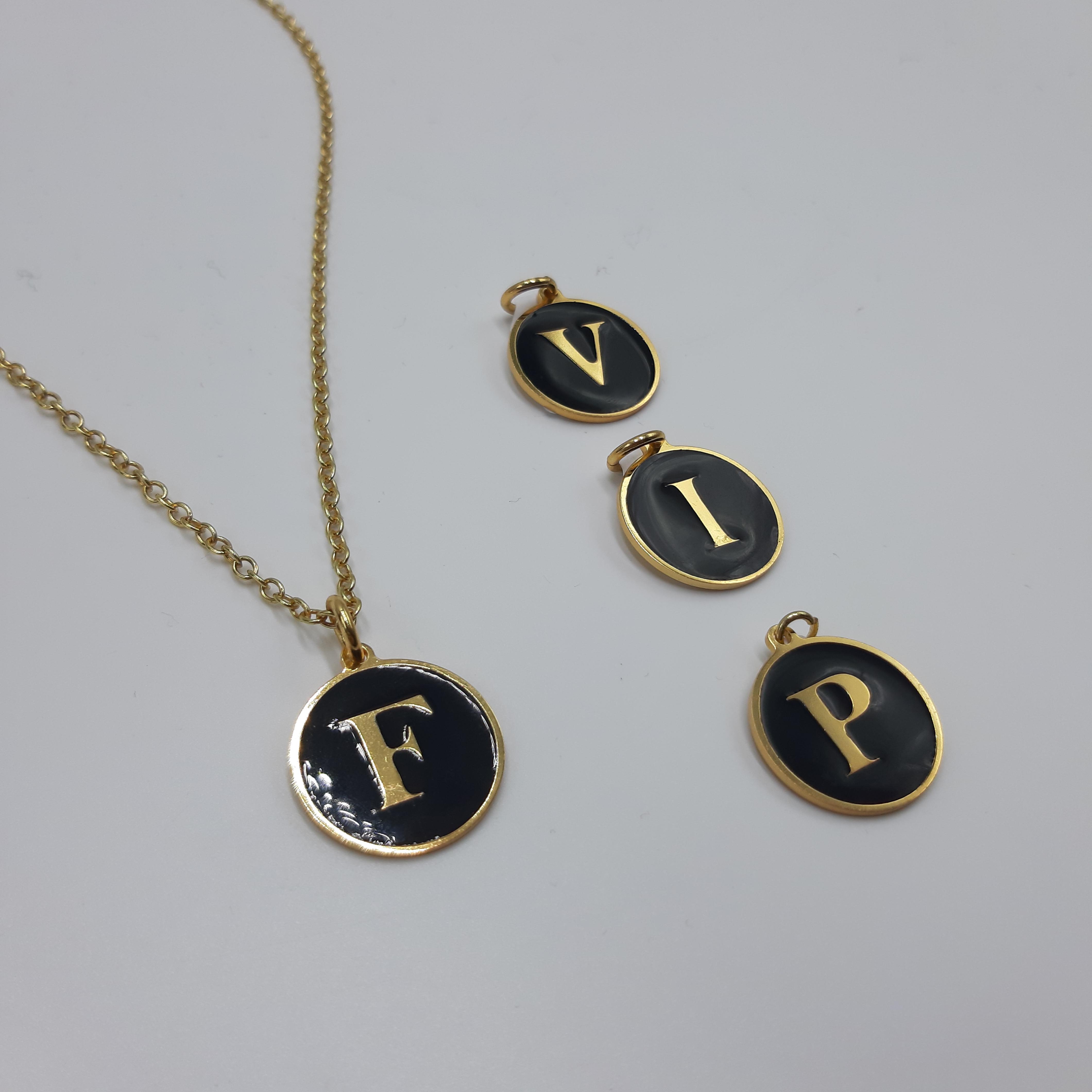 Ciondolo iniziale oro Francesca Bianchi Design