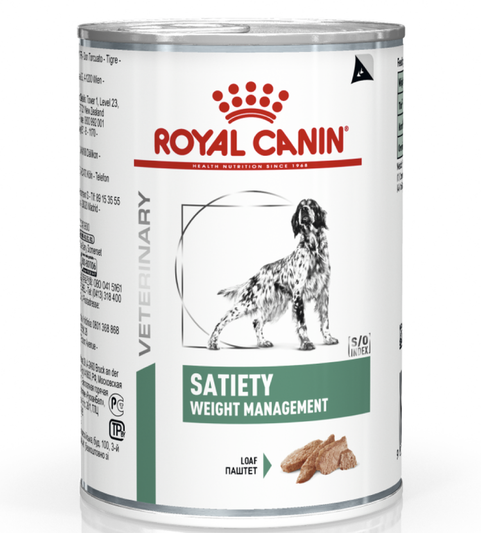 Royal Canin - Veterinary Diet Canine - Satiety Weight Management - 410g x 12 lattine