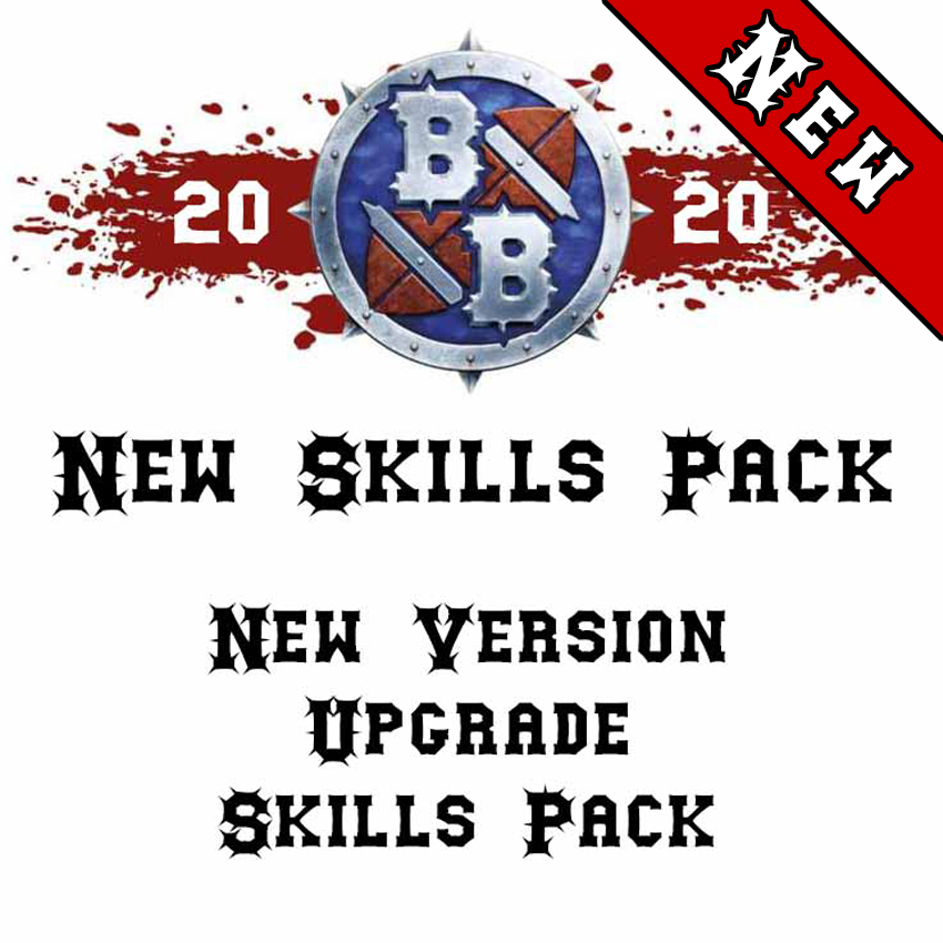 Blood Bowl 2020 Compatible New Version Upgrade Skills Pack (x25)