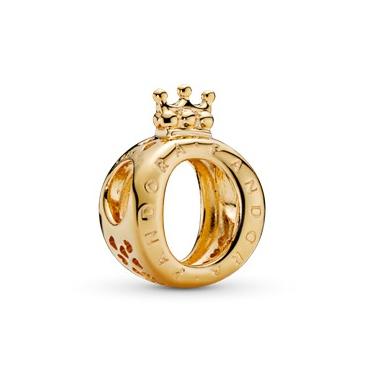 Charm O Coronata logo Pandora Gold