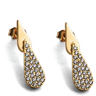 Orecchini donna For Us Cesare Paciotti Jewels. Gold Water.