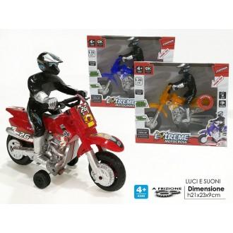 General Trade Extreme Motocross Moto Rossa con Motociclista Colori Assortiti