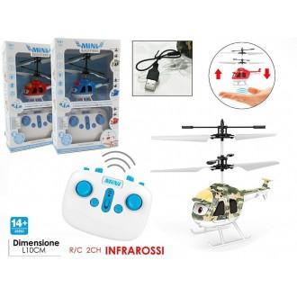 General Trade Mini Elicottero 2CH Con Telecomando A Infrarossi Pilotabile Bambino Giocattolo