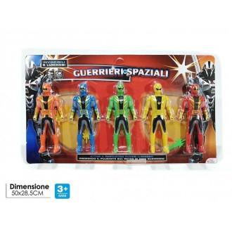 General Trade Set 5 Guerrieri Try-me Con Luci Guerrieri Colorati Con Funzioni Colori Luci e Suoni