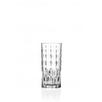Rcr Marilyn Confezione Set di 6 Bicchieri HB Per Acqua Trasparenti Decorati Eleganti Cristalleria Italiana