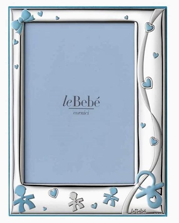 LeBebé Cornice Linea Ciuccio - Celeste piccola 9x13