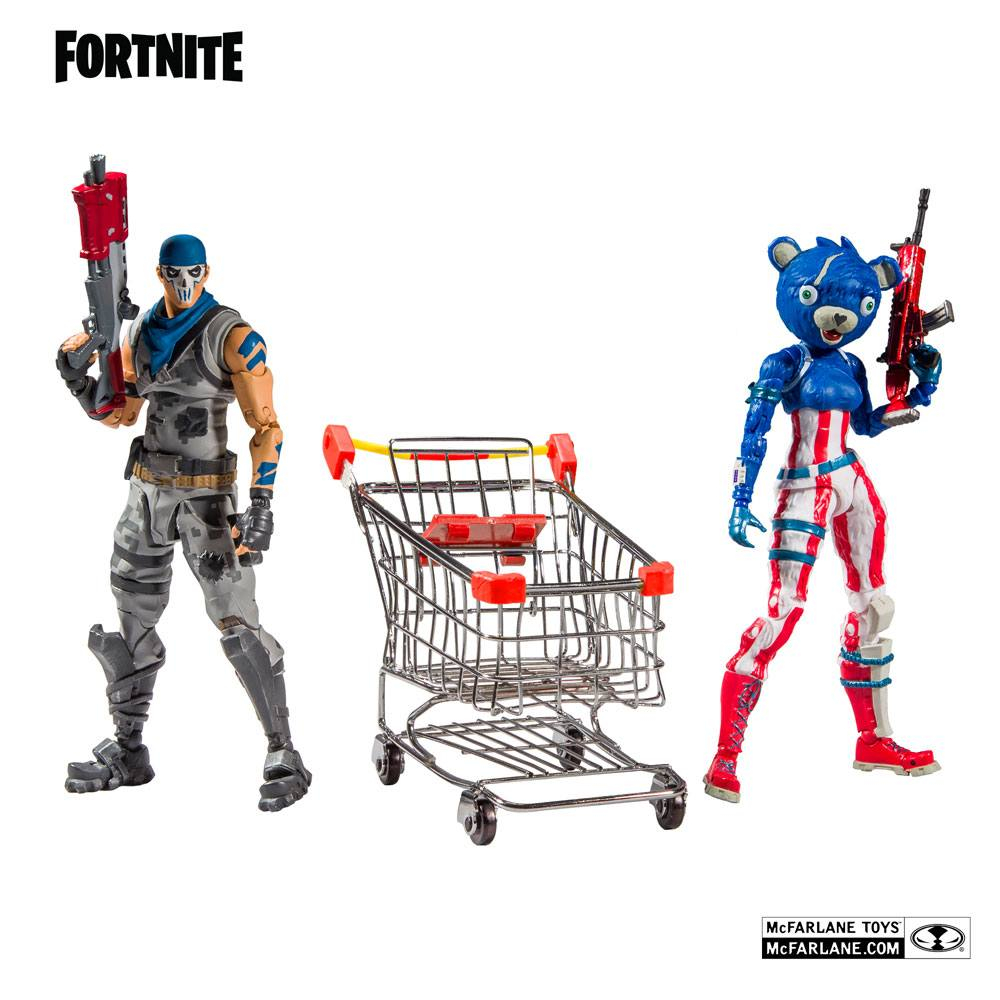 Fortnite Series Action Figures: SHOPPING CART PACK War Paint & Fireworks Team Leader by McFarlane