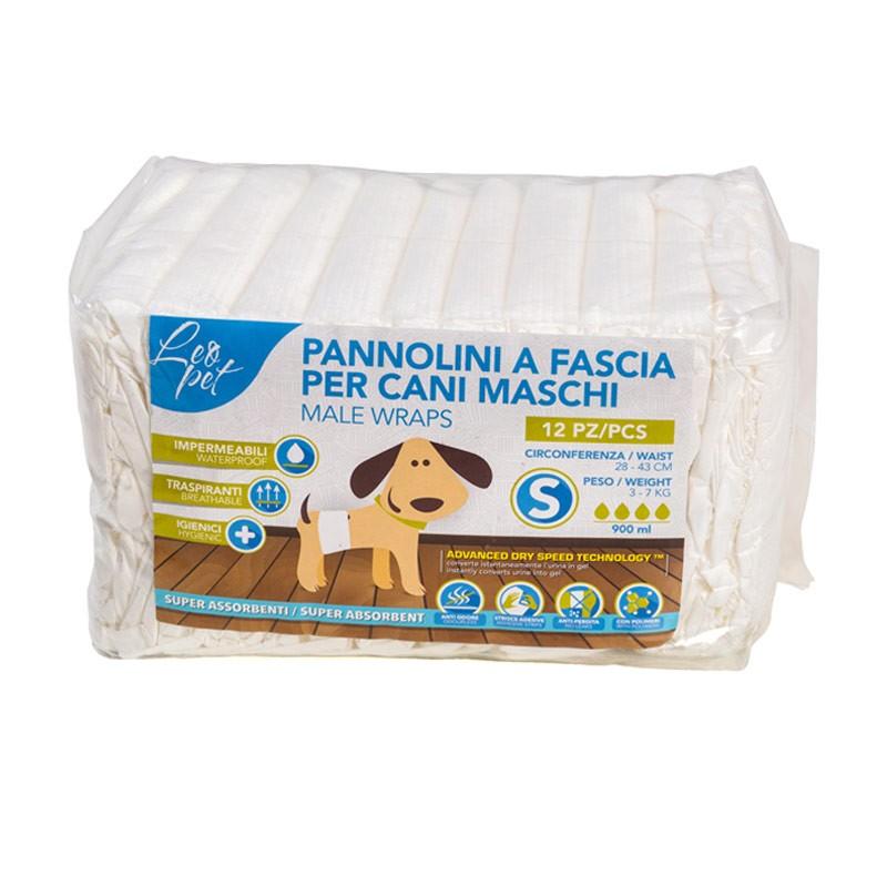 Pannolini Leopet Fascia Per Cani Maschi 12 Pezzi