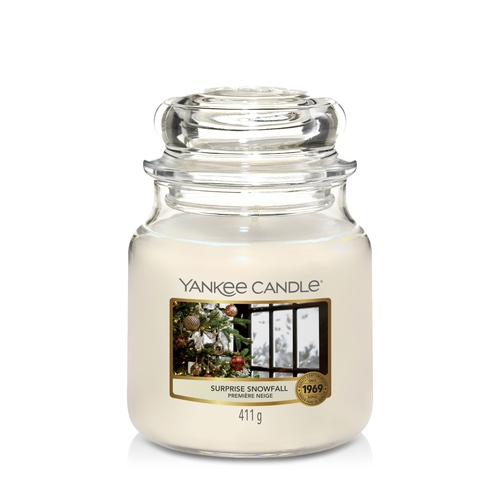 Candela Yankee Candle giara media Surprise Snowfall