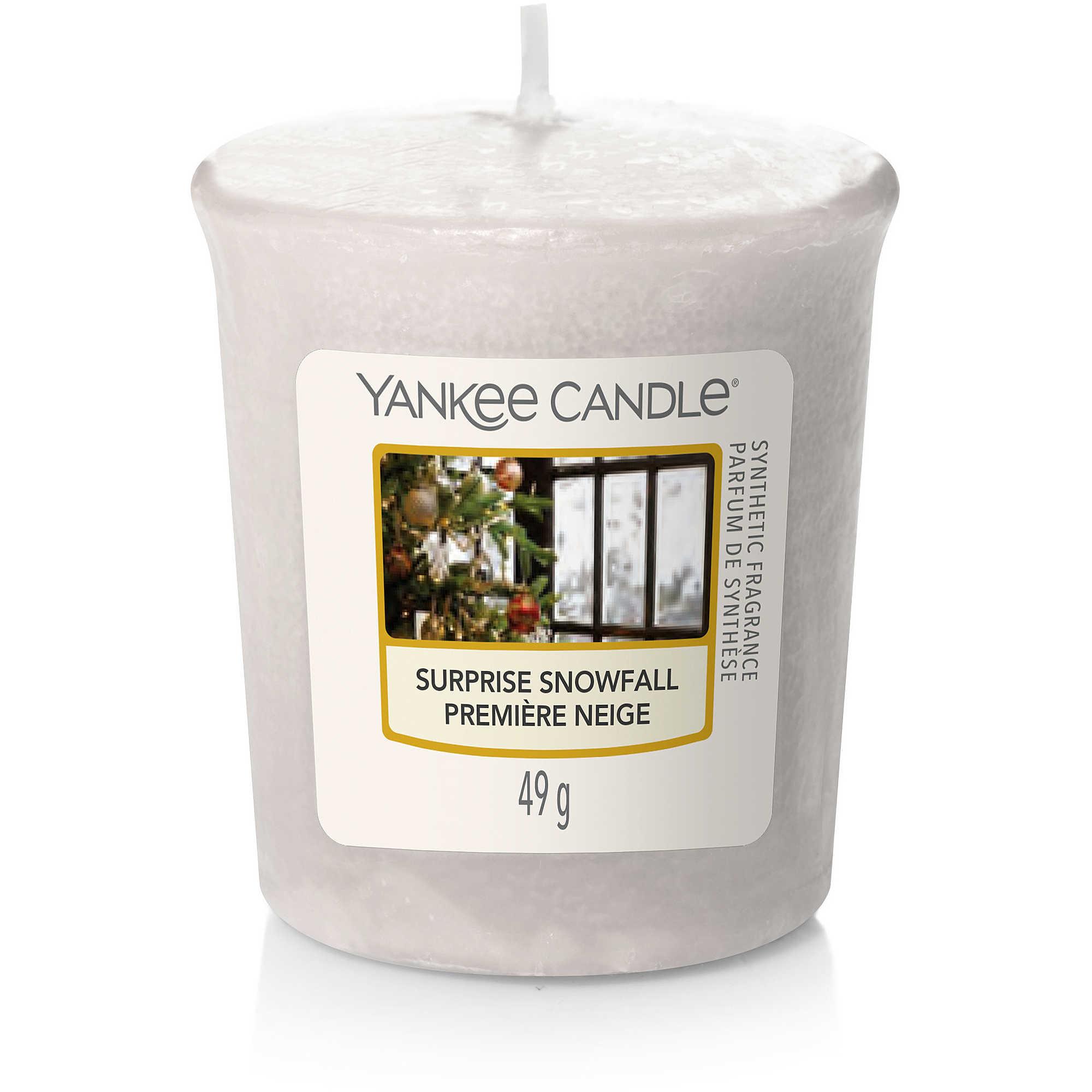 Candela Yankee Candle sampler Surprise Snowfall