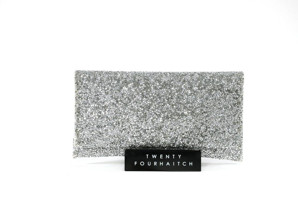 Twenty Fourhaitch-Pochette Donna Ely Cristal/Argento