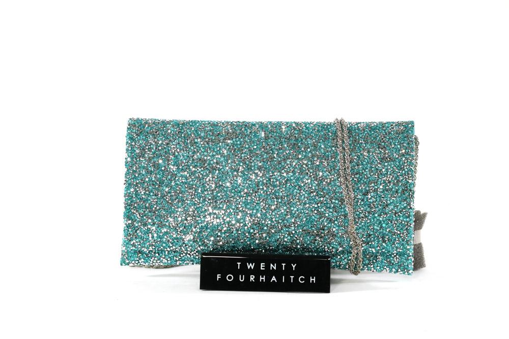 Twenty Fourhaitch-Pochette Donna Ely-Cristal/Azzurro