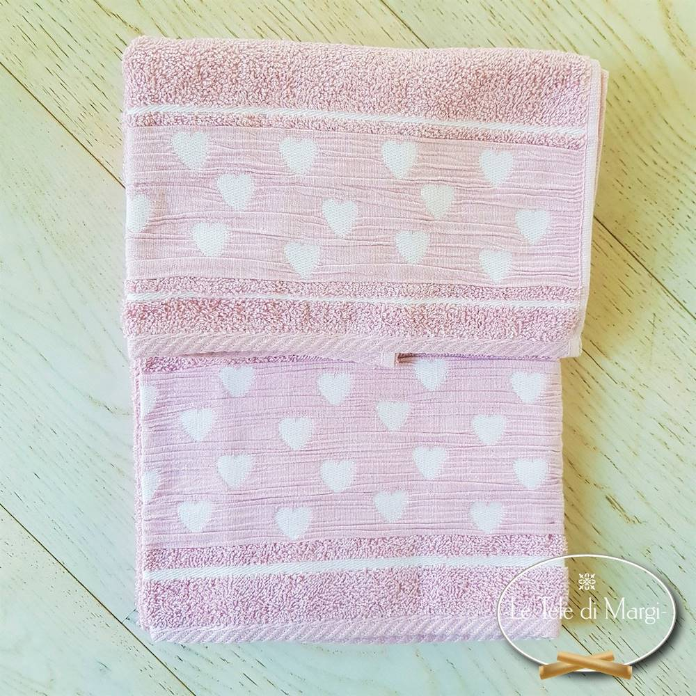 Asciugamani Cuoricini rosa