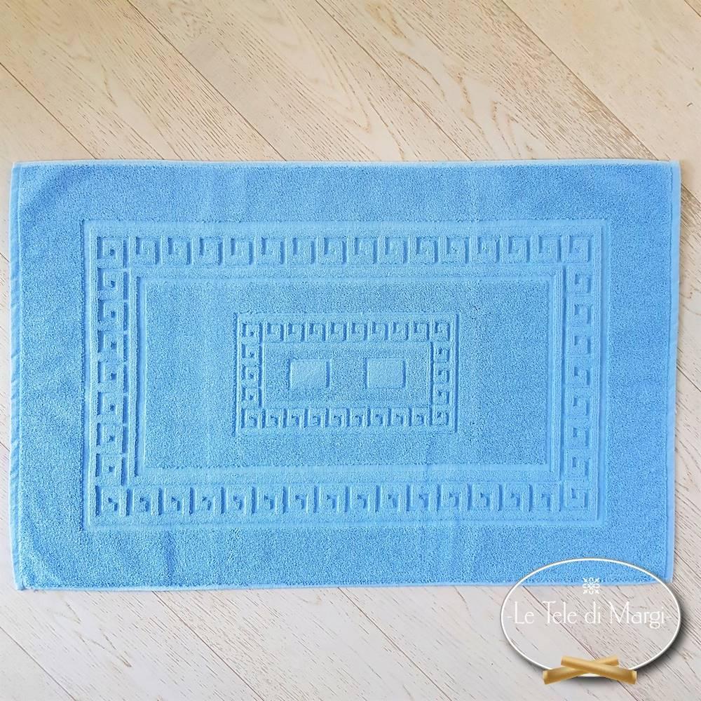 Tappeto Greca azzurro