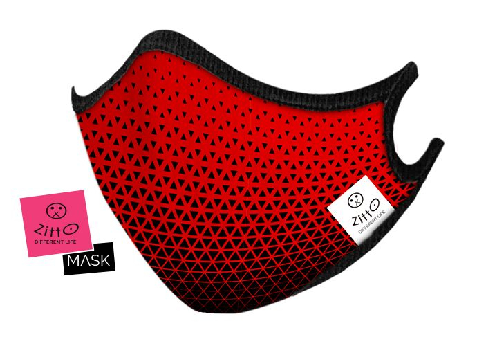 Zitto mask adulti Sporty Red