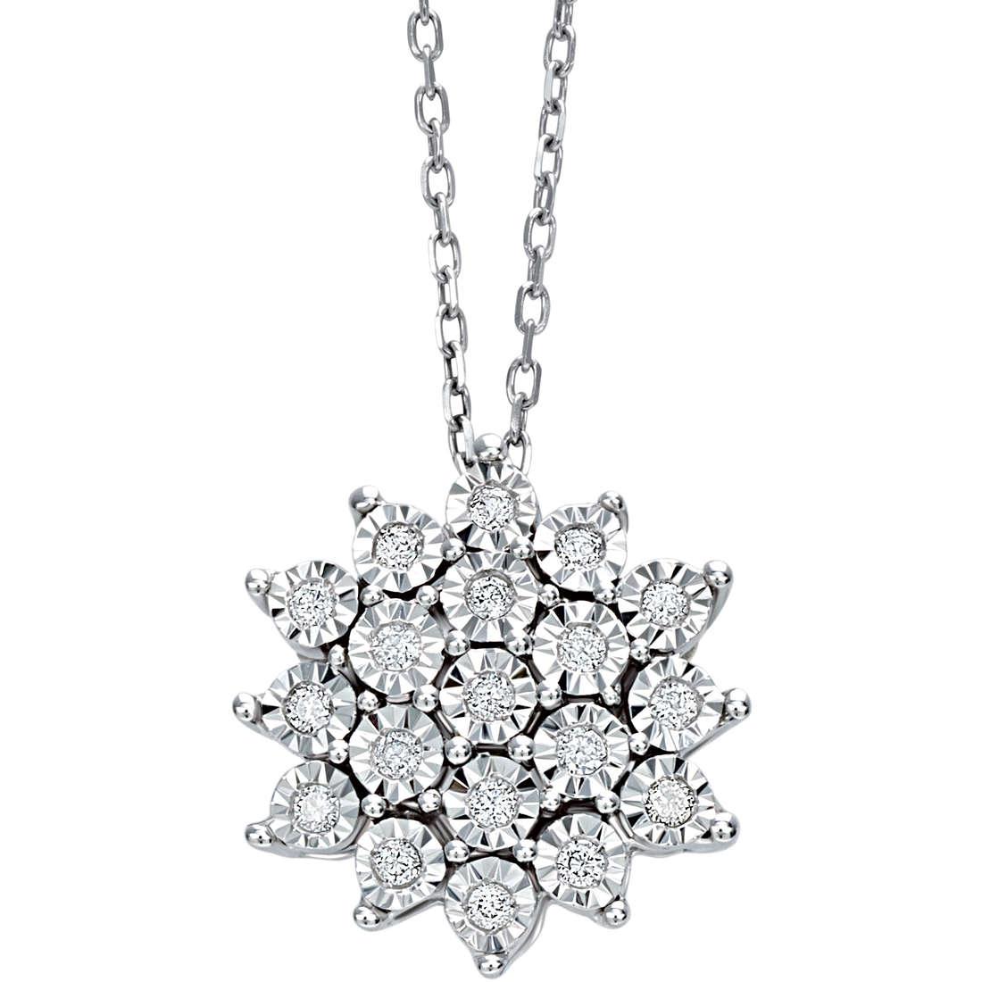 Collana Bliss elisir oro bianco e diamanti