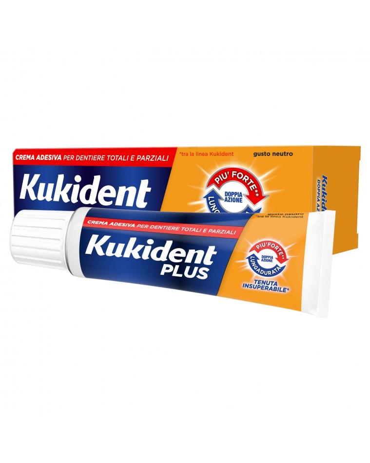 Kukident Plus Doppia Azione crema adesiva per protesi dentarie 40 g