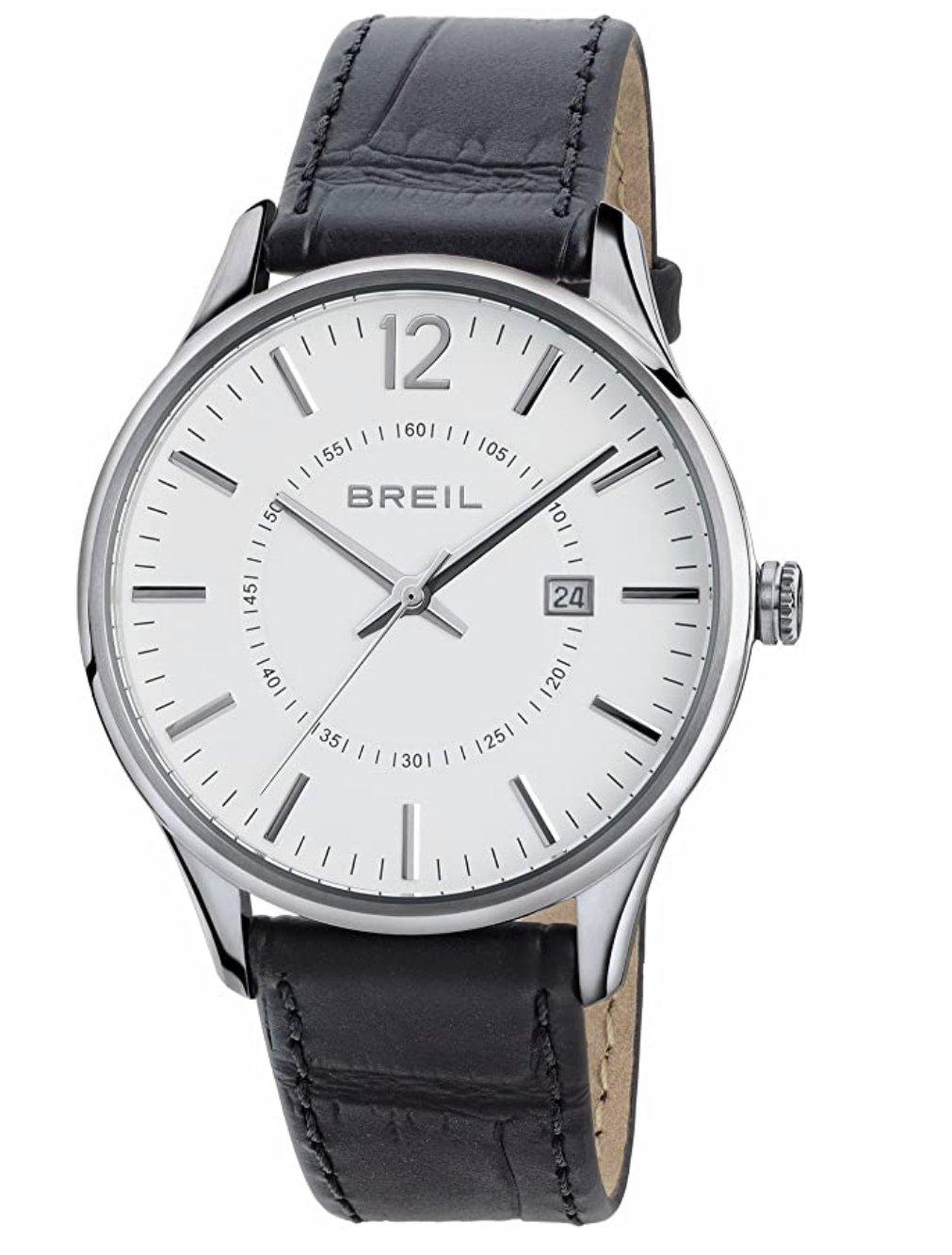 Orologio uomo Breil solo tempo e data con cinturino in pelle nera