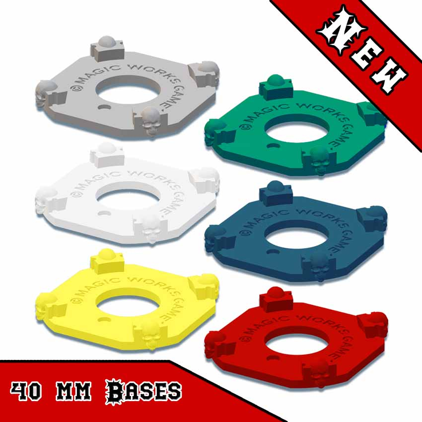 Blood Bowl 2020 Compatible Skill Markers Base 40mm(x1)