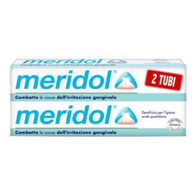 MERIDOL DENTIFRICIO 2 TUBI DA 75 ML COMBATTE LE CAUSE DELL' IRRITAZIONE GENGIVALE.