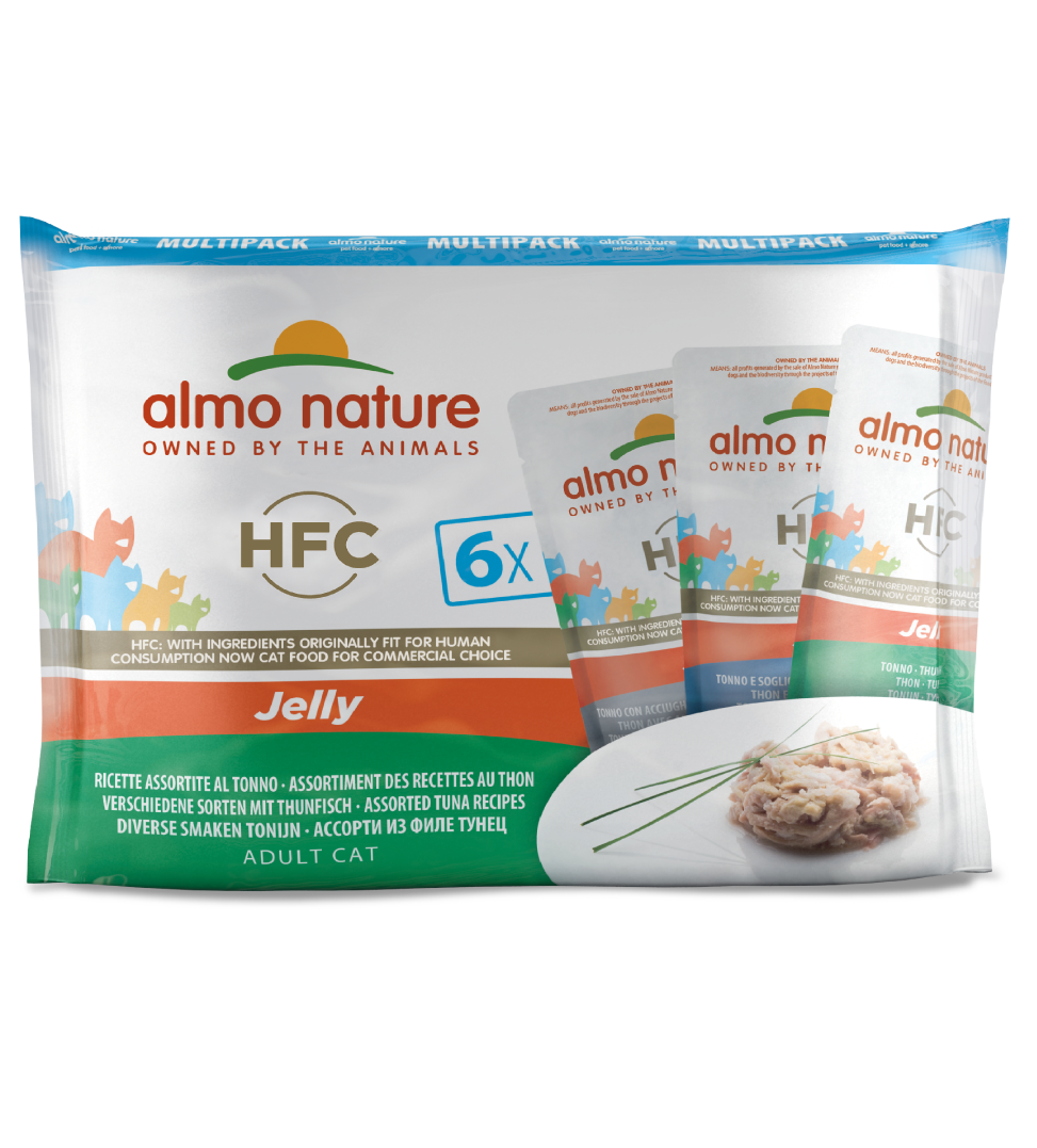 Almo Nature - HFC Cat - Multipack - Jelly - Tonno - 3 x 6 buste 55g