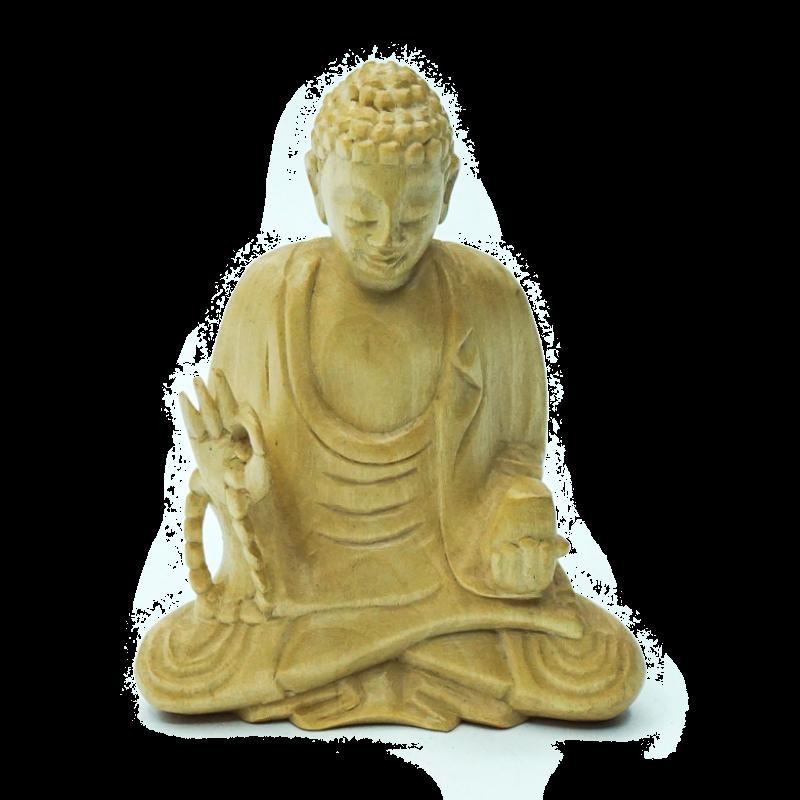 Statuetta Legno Suar con Mala
