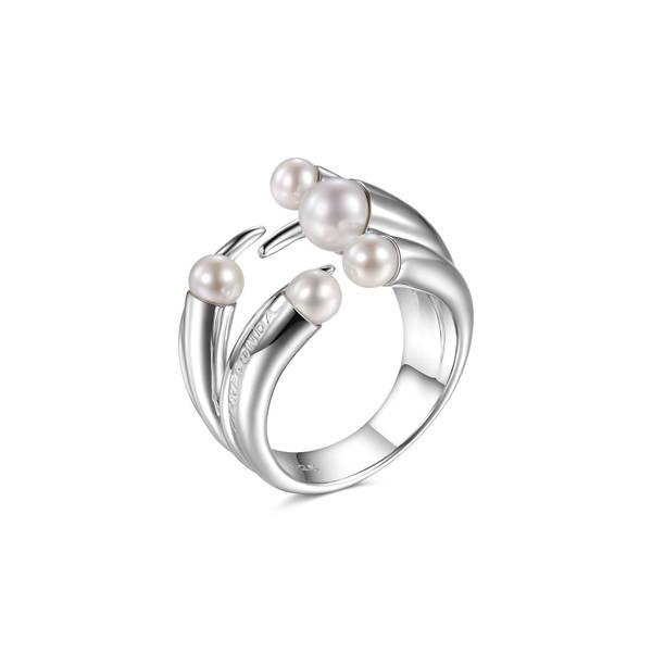 Anello PIANEGONDA collezione CUSPIS in argento 925/1000 con perle naturali