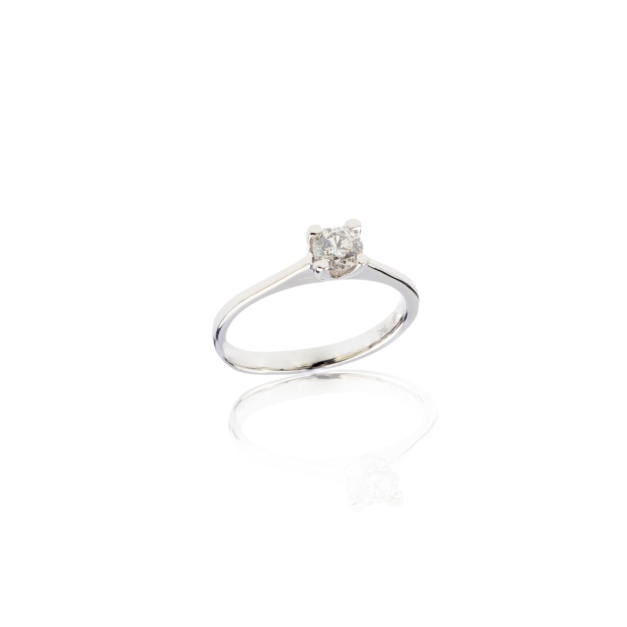 Solitario Diamante ct 0,08
