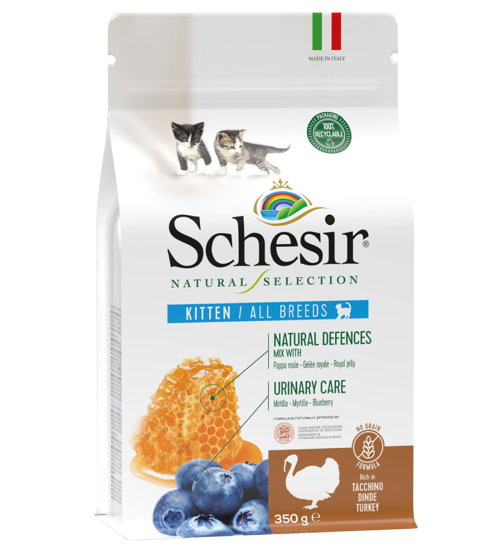 Schesir Cat - Natural Selection - No Grain - Kitten - Tacchino - 350g