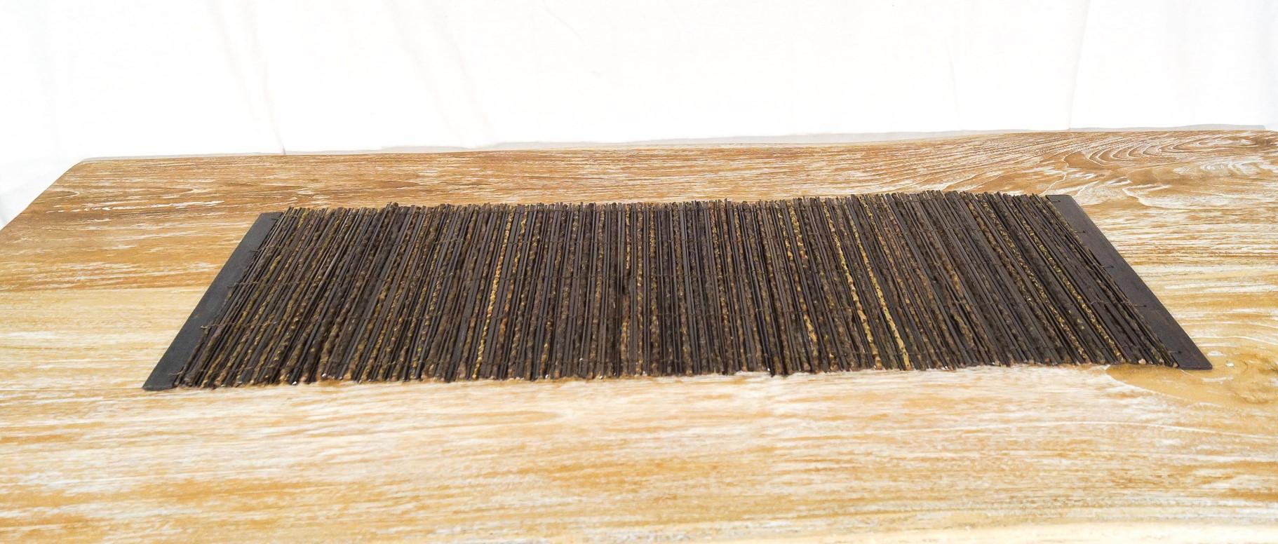 Stuoia Legno Bordato Bambù Piatto  35 x 150 cm