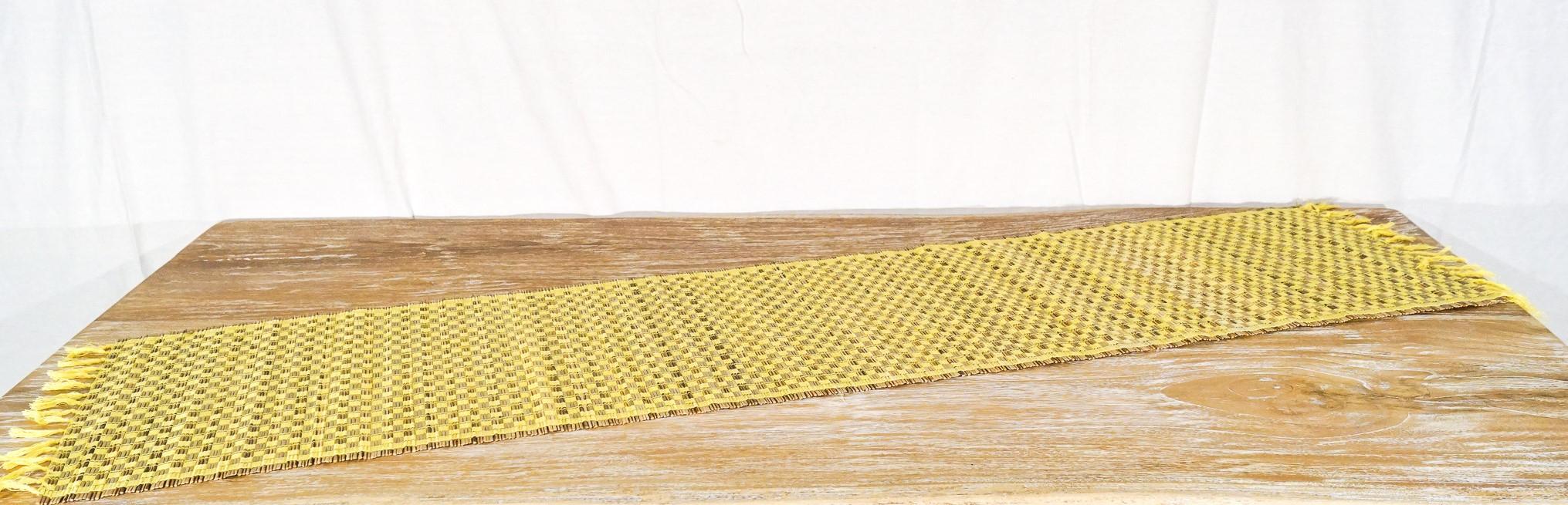 Stuoia Palma gialla + cotone   35 x 150 cm