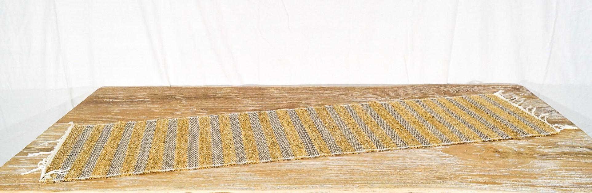 Stuoia frangipane + tessuto 35 x 150 cm