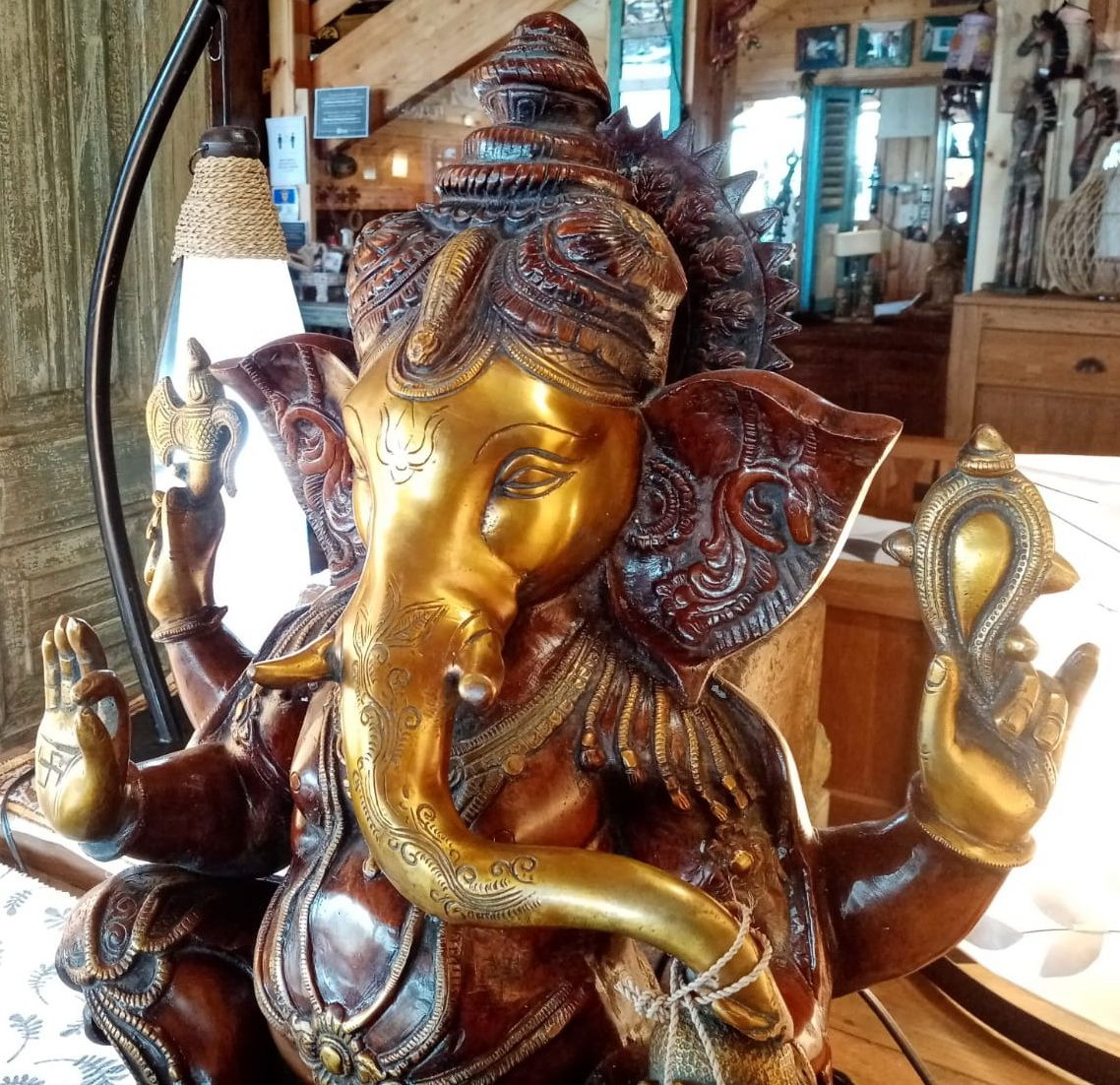 Statua in brass Ganesh