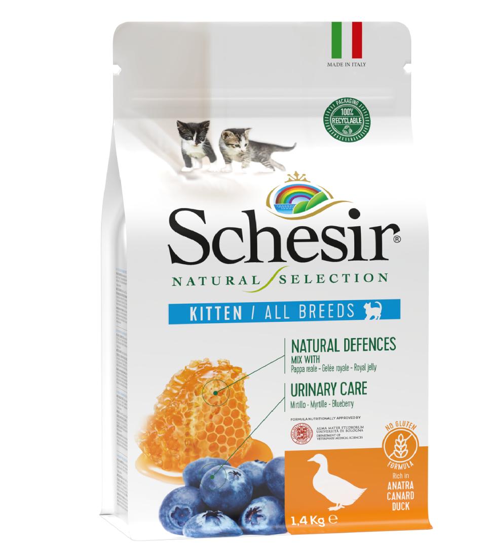 Schesir Cat - Natural Selection - Kitten - Anatra - 1,4 kg