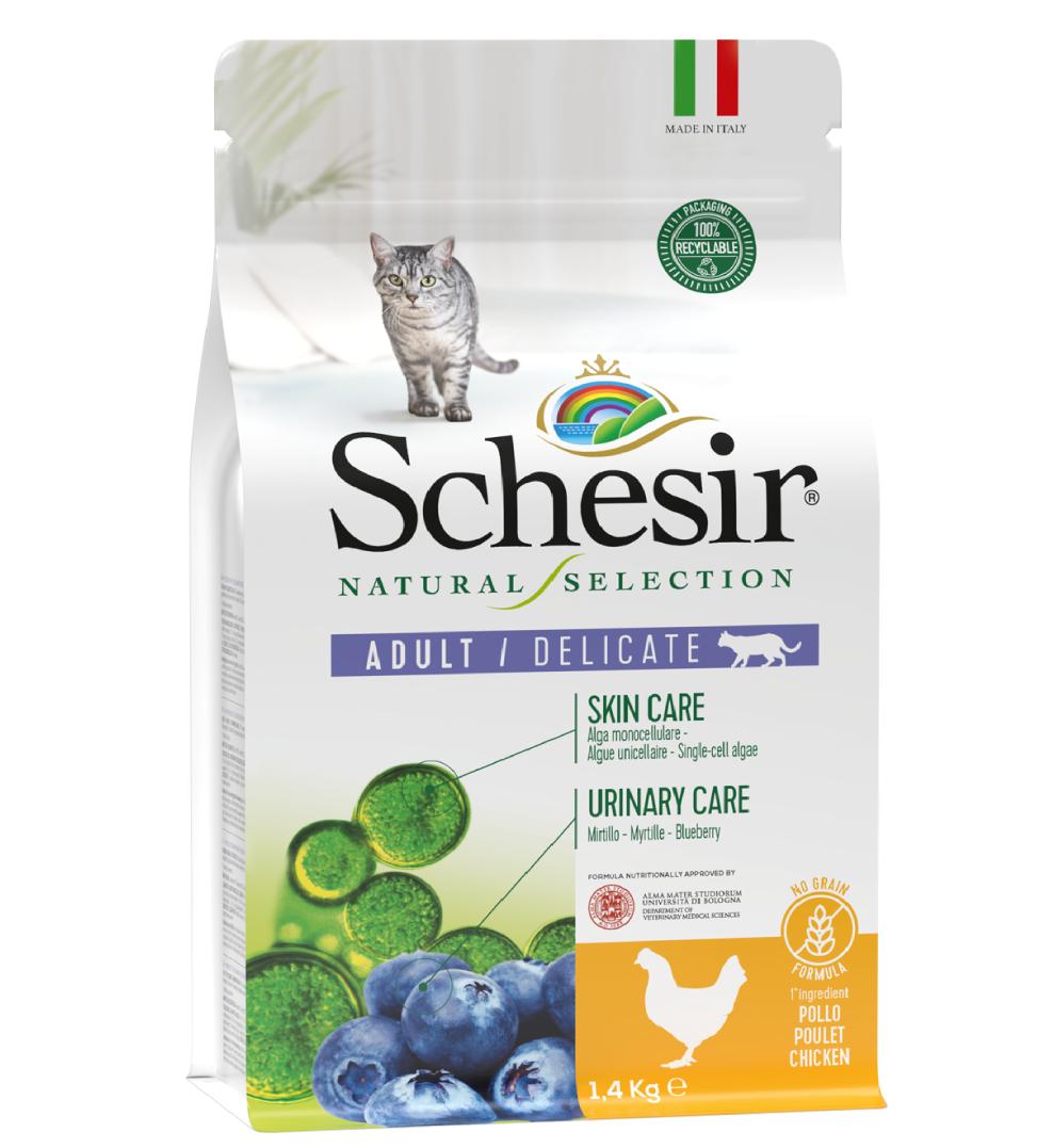 Schesir Cat - Natural Selection - No Grain - Adult - Pollo - 1.4 kg